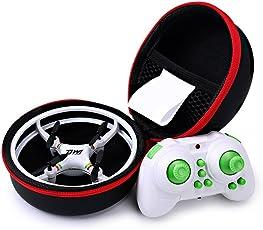 Ionlyou DW1 Mini Quadrocopter Drohne Kollisionsschutz-Rahme Space Trek UFO Entwurf Headless Modus Drone Spielzeug mit Transport case