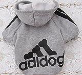 Unbekannt josep.h Adidog Hundepullover Welpen-T-Shirt Warm Pullover Mantel Pet Kleidung Bekleidung