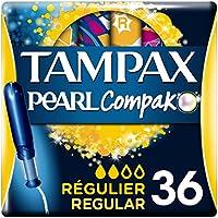 Tampax Compak Pearl Regular con Aplicador, el Mejor Tampón Tampax en Comodidad, Protección y