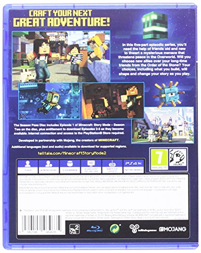 Minecraft Story Mode - Season 2 Pass Disc (PS4) - 1st ps4