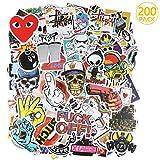 PAMIYO 200 Pezzi DIY Adesivi Originali Vari Brand Creativi impermeabile Muro Stickers per PC Portatili, Auto Moto, Bicicletta, Abbellire Bagaglio Skateboard Snowboard