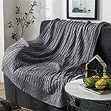 WANMT Wohn Kuscheldecken Sommer dünne Baumwolle Dicke Linie Stricken Decke Sofa dekorative Decke Büro Mittagspause Klimaanlage Decke, 120cm * 180cm