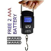 Klick n Shop ShopAIS Weighing Scale Digital Portable Hook Type with Temp (Black, 50 Kg)