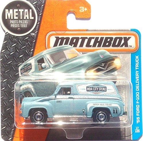 Matchbox - Sortiment GJ10 1:64 (DVN43 - 1955 Ford F-100 Lieferwagen matt blau - 57/125)