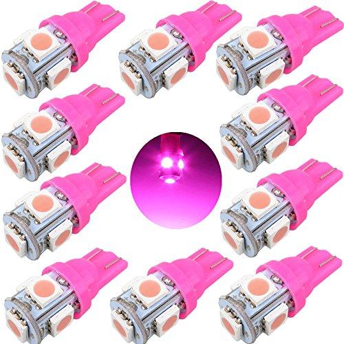 5050SMD Blanc Froid Ampoules LED W5/W 168/2825/de Remplacement pour Voiture Int/érieur d/ôme lumi/ère Clearance Trunk Tableau de Bord de Plaque dimmatriculation lumi/ères Lampe WLJH 10/pcs T10/Wedge 5