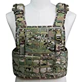 Outry Plate Carrier, Lasergeschnitten Leichte und atmungsaktive Outdoor MOLLE PCPC Tactical Vest (CP)