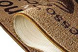 Teppich Modern Flachgewebe Gel Läufer Küchenteppich Küchenläufer Braun Beige Schwarz mit Schriftzug Coffee Macchiato Cappuccino Espresso Größe 80 x 300 cm - 7