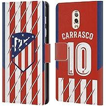 Officiel Atletico Madrid Yannick Carrasco 2017/18 Joueurs Home Kit Groupe 1 Étui Coque De Livre en Cuir pour Samsung Galaxy C7 (2017)
