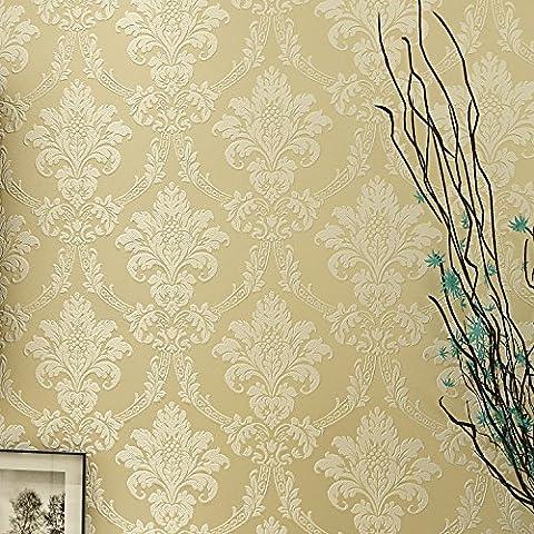 BTJC Tapeten-Stil minimalistisch Europäische Blume Shop Wohnzimmer Wohnzimmer TV Wand 3D voll Vliestapete Hintergrundbild , 56820 beige