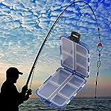 BHPSU Box 10Scomparti Pesca Storage Case Fly Fishing Lure Spoon Hook Bait Tackle Box Case Accessori Attrezzi da Pesca