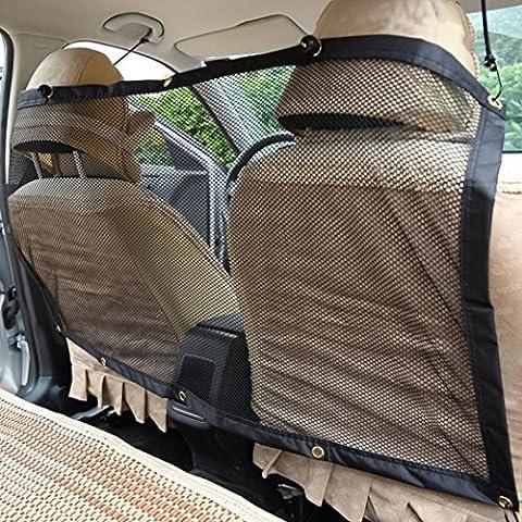Pet Net Barrière, Lanowo durable de voiture Hatchback Filet de sécurité pare-chien Barrier écran en maille filet protecteur universel en maille filet de véhicule de voiture Barrière pour chien chat animaux de compagnie, 119,4x 68,6cm