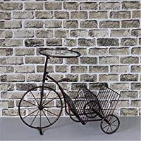 Indipendente da scaffale / Desk Top Organizzazione, Creative rack facile in bicicletta a soffitto-rack detriti,assemblare dimensioni: 67*55*35cm, rame retrò