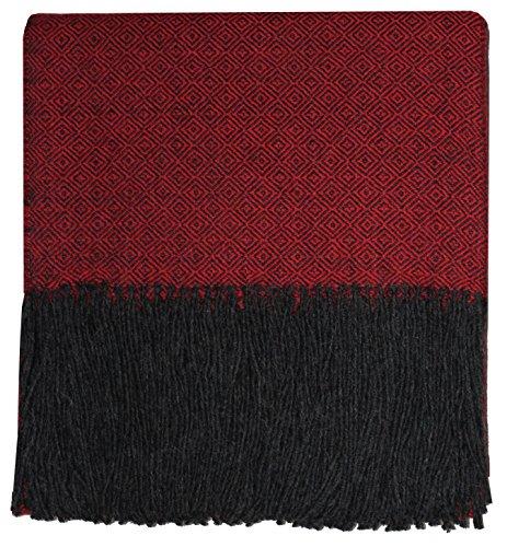 Lorenzo Cana High End Alpakadecke 100% Alpaka Fair Trade Decke Wohndecke handgewebt Sofadecke Tagesdecke Kuscheldecke -