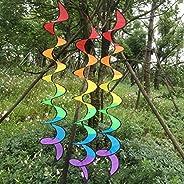 Sconosciuto Funny Rainbow Spiral Windmill colorato girandola giravento tenda da giardino decorazioni casa arco