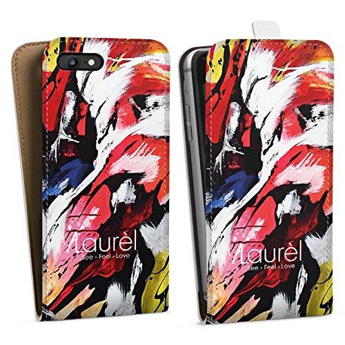 Apple iPhone X Silikon Hülle Case Schutzhülle Laurèl Art Phone Laurel Downflip Tasche weiß