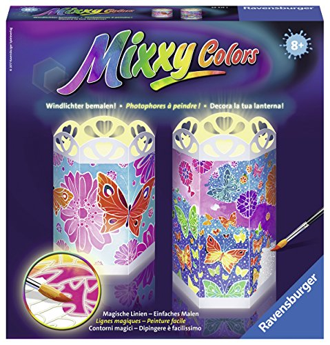 Ravensburger 29415 - Mixxy Colors Windlichter 'Bunte Schmetterlinge'