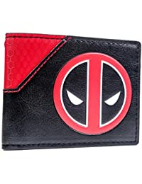 Cartera de Marvel Deadpool Logotipo de la cara Multicolor