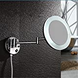 SYW bad kosmetikspiegel runden führte spiegel - schönheit, hochwertige wand montierten beleuchtung spiegel das 3 - fache vergrößert.