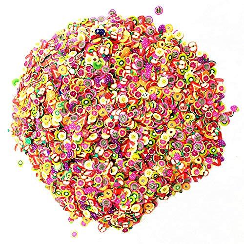 Schleim Füllstoff Anhänger für Slime Zubehör Kit Fluffy Slimes Obst PolymerClear Slime Zubehör Slide Putty Lehm Spielzeug für Kinder -