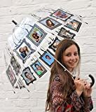 Clippy Foto Regenschirm - Large Black: Regenschirm mit 16 Fototaschen