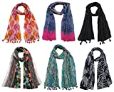 #7: FusFus Women's Poly Cotton Combo Of 6 Scarves (Multicolor_Free Size)