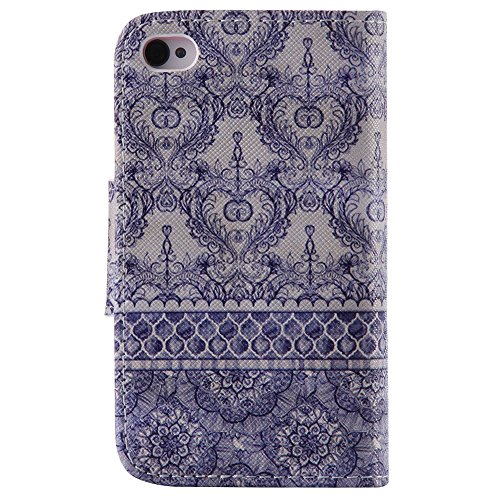 Chreey Coque Apple Iphone 4 / 4S (3.5 pouces) ,PU Cuir Portefeuille Etui Housse Case Cover ,carte de crédit pour , serrures magnétiques, support pliable, idéal pour protéger votre téléphone totem