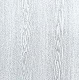 Klebefolie Holzdekor- Möbelfolie Holz Eiche silbergrau 45 cm x 200 cm Dekorfolie Selbstklebende Folie mit modernen Holz Dekor - Selbstklebefolie