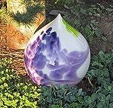 Maxi-Glaszwiebel mit Stab flieder H 30 cm Handarbeit Gartenkugel Glas-Objekt
