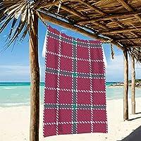 Ahomy Toalla de Playa a Rayas de Cuadros de Microfibra Grande – 188 cm x 94