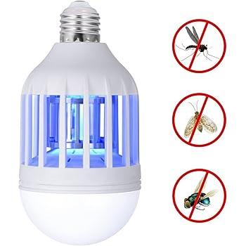 Beautyjourney Lampe Lumiere Violette,Lumiere Insecte Nouveau LED Anti- Moustique Ampoule 15W 1000Lm 6500K éLectronique Insecte Mouche Leurrer Kill  Bulb (A) ec14ca8da5f6