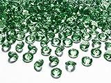 Schnooridoo 500 Diamanten dunkelgrün 12mm Tischdekoration Streuartikel Hochzeit Taufe Konfirmation Event Deko