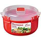 Sistema Microwave ronde container, 915 ml, rood/transparant