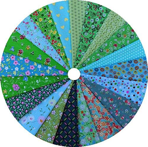 Grannycrafts 20 pezzi 20x30cm tessuti stampato cotone tessuti e stoffe a metro cotone tessuti stoffe per patchwork scampoli stoffa fatansia per cucito creativo serie verde