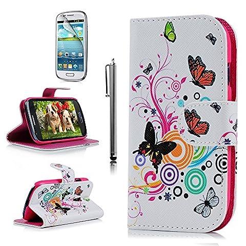 YOKIRIN Pink PU-Leder Flip-Cover Folio Schutzhülle für Samsung Galaxy S3