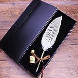 Federhalter Set, Sayou® Kalligraphie Stifte / Schreibfeder / Feder Stift Mit Tintenfass (Weiß)