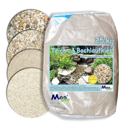 Teich- & Bachlauf - Kies Quarzkies gerundet kalfrei nährstoffrei DIN 4924 Einbau & Unterbau -fähig (8-16 mm)