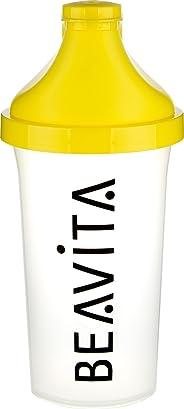 BEAVITA Slim Shaker   für Eiweiß & Protein-Shakes oder isotonische Mixgetränke   Trinkflasche mit Klappdeckelverschluss   Spü