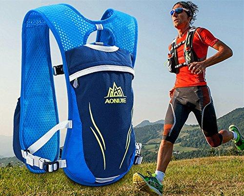 5,5l Weste Rucksack blufied Hydration leicht Blase Tasche Packungen mit Reflektierende Streifen für Unisex Frauen Herren Laufen Ski Wandern Fahrrad Blau