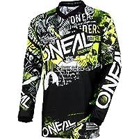 O'Neal Unisex-Adult Element Attack Jersey (Black/Hi-Viz, Medium)