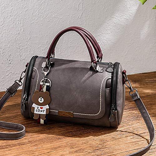 Fyyzg Herbst und Winter und weise beiläufige Handtaschen des koreanische Art und Weise beiläufige große Tasche tragbare Handtasche Schultertasche Wilde graue -BQ Baogu Hand_