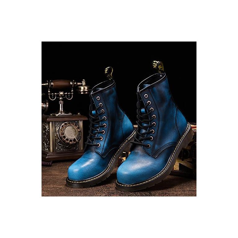 Homme Bottines en daim cuir Ace Up Casual Chukka Chaud Fourrure Combat Chaussures NOUVEAU