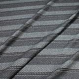 Stoff Wolle Fischgrat Streifen grau anthrazit reine Wolle