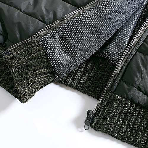 Vinmori Giacca riscaldata elettrica Taglia lavabile Ricarica USB regolabile Abbigliamento riscaldato Donna Inverno Accendino caldo Design manica staccabile per moto Motoslitta ... L