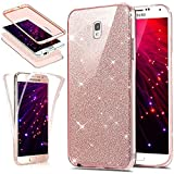 Etsue Glitter TPU Case for Samsung Galaxy Note 3, 360