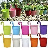 Frische Idee Hängetöpfe Für Balkon 10er Set Blumentopf  10cm in verschiedenen Farben Übertopf (10er Set)