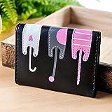 Women Wallet, Rcool Cat Pattern Coin Purse Card Holder (Black)