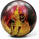 Brunswick Bowlingball RHINO div Farben und Größen (Red/Black/Gold Pearl, 13 Lbs)