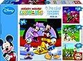 Educa 15288 La Casa de Mickey Mouse - Puzzle (4 unidades, 12, 16, 20 y 25 piezas) de Educa Borrás