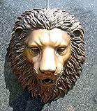 Löwenkopf mit Wasserspeier aus Bronze