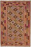 Carpetfine: Kelim Afghan Teppich 205x302 Multicolor - Geometrisch